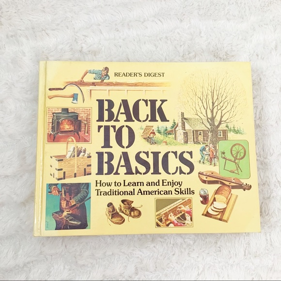 Vintage Other - Readers Digest Back to Basics hardback book 1981